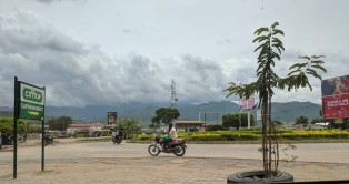 A lot of people travel by motorcycles in Uganda