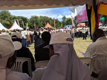 The view from the religious tent